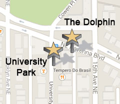 Mini Map of University Park and The Dolphin Apartments